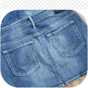 True religion mini skirt size 30